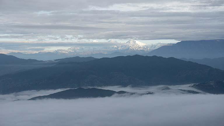 Sunrise in the Nepal himalaya
