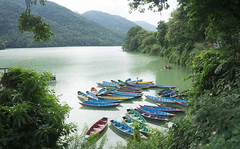 Photo from Phewa lake in Nepal