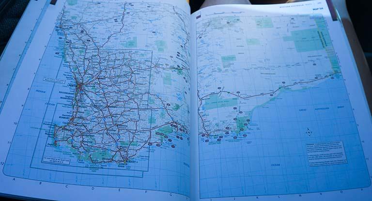Road map of australia