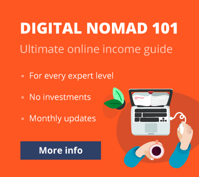 Digital nomad 101 advertisement