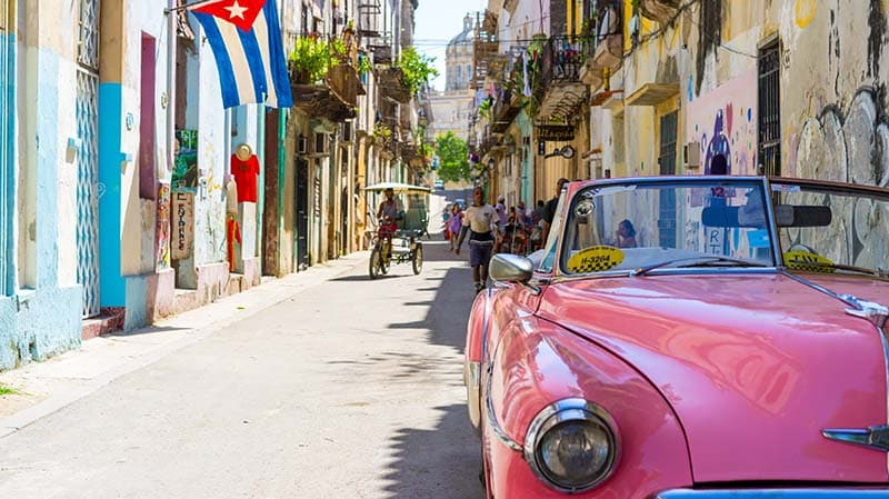 Original taxi in Cuba